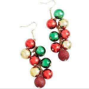 🆕Holiday Ornament Shaky Dangle Earrings Christmas